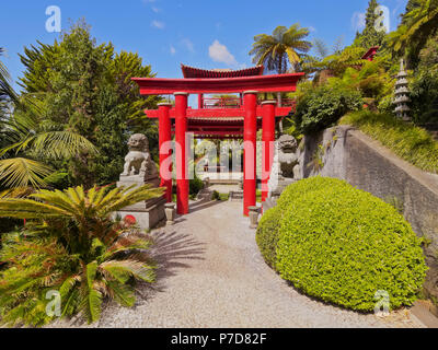 Oriental Gardens in the Monte Palace Tropical Garden, Monte, Funchal, Madeira, Portugal