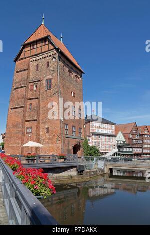 Abtswasserkunst, old town, Lueneburg, Lower Saxony Germany - Stock Photo