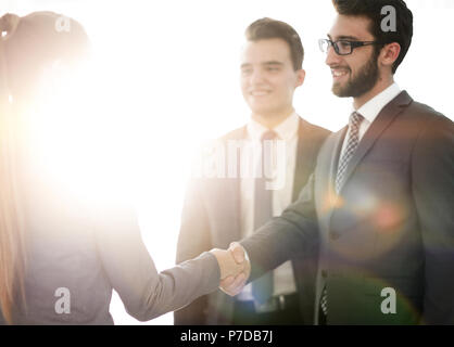 business concept .handshake financial partners. - Stock Photo
