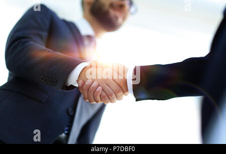 Successful business people handshaking after good deal. - Stock Photo