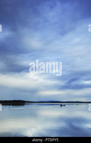 Lake in Muonio, Lapland, Finland - Stock Photo