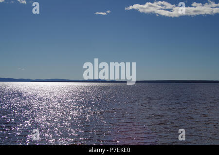 Beautiful view over lake Siljan in the heart of Dalarna - Stock Photo