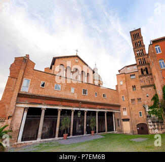 Basilica of Saints John and Paul on the Caelian Hill in Rome, Italy. - Stock Photo