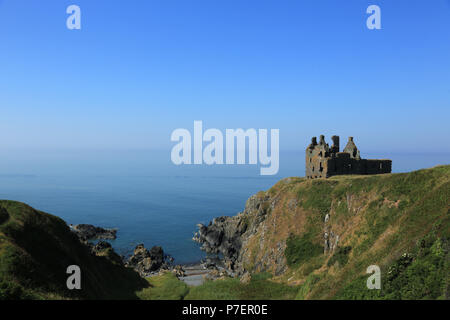 700 hundred year old Dunskey castle near Portpatrick, Dumfries and Galloway, South west Scotland, UK. - Stock Photo