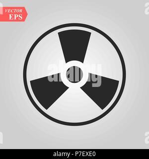 Radioactive. toxic. atom. danger hazard biohazard icon vector eps 10 - Stock Photo