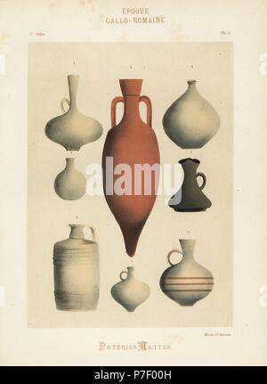 Greco Roman Clay Amphora Vases Jugs And Urns Hand Finished Stock