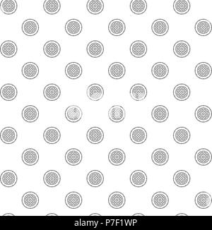 Simple disc roulette for casino games seamless pattern with various icons and symbols on white background flat vector illustration - Stock Photo