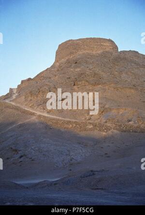 Iran. Yazd. Zoroastrian Tower of Silence. - Stock Photo