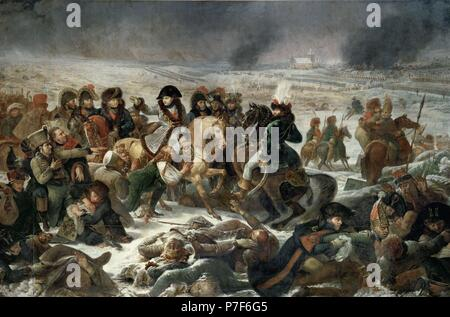 Antoine-Jean Gros / 'Napoleon in the Battle of Eylau, 1808, Oil on canvas, 533 x 800 cm. Artwork also known as: NAPOLEON EN EL CAMPO DE BATALLA DE EYLAU EL 9 DE FEBRERO DE 1802. Museum: MUSEE DU LOUVRE. - Stock Photo