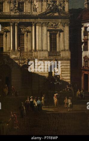 Bernardo Bellotto (1721/2-1780). Italian urban landscape painter. Vienna University square, 1758-1761. Kunsthistorisches Museum (Art History Museum). Vienna. Austria. - Stock Photo