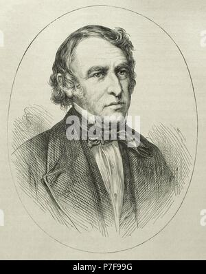 Zachary Taylor (1784-1850). American officer and politician. 12th President of the United States (1849-1850. Portrait. Engraving. - Stock Photo