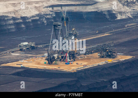 brown coal open pit Landscape Inden Germany RWE Power Industry