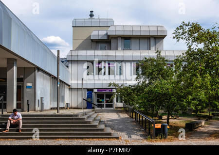 Berlin, FU Freie Universität,Free University campus buildings - Modern complex Rust and silver exterior - Stock Photo