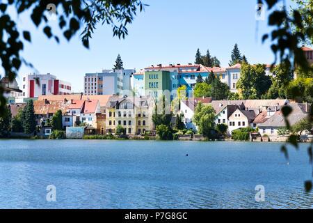 rybnik Vajgar, Jindrichuv Hradec, Jizni Cechy, Ceska republika / Vajgar lake, town Jindrichuv Hradec, South Bohemia, Czech republic - Stock Photo