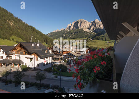 Posta Zirm Hotel Corvara in Badia South Tyrol Trentino Alto Adige Italy - Stock Photo
