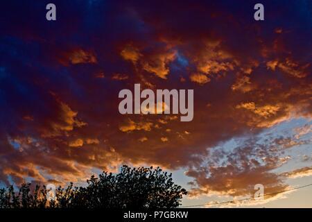 Texas Panhandle Sunset, Canyon, Texas - Stock Photo