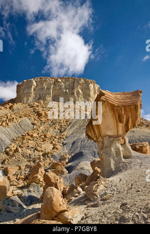 Buttes and rocks around Smoky Mountain Road in Nipple Bench area near Lake Powell and Grand Staircase Escalante National Monument, Utah, USA - Stock Photo