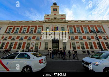 Comunidad de Madrid building in Puerta del Sol plaza, Madrid, Spain - Stock Photo