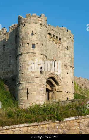 carisbrooke castle, newport, isle of wight, england, uk. - Stock Photo