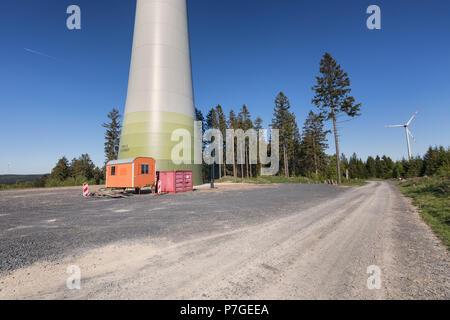 Windpark Kreuzstein im Kaufunger Wald - Stock Photo