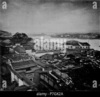 English: Photograph by John Thomson. See detail on the  link below. before 1898 301 PART OF THE FOREIGN SETTLEMENT, FOOCHOW - Stock Photo