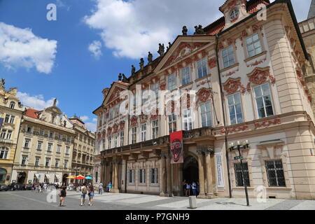 Kinský Palace National Gallery, Old Town Square (north east corner), Staré Město (Old Town), Prague, Czechia (Czech Republic), Europe - Stock Photo