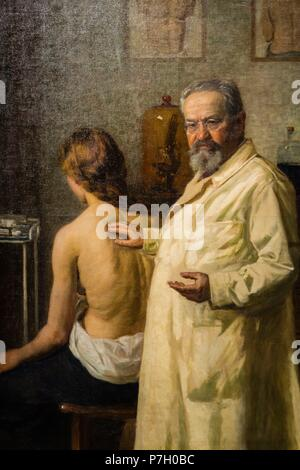 retrato del doctor Salomon Ehrmann, Lasar Krestin, 1913, oleo sobre lienzo, Museo Judío de Berlín,Berlin, Alemania, Europe. - Stock Photo