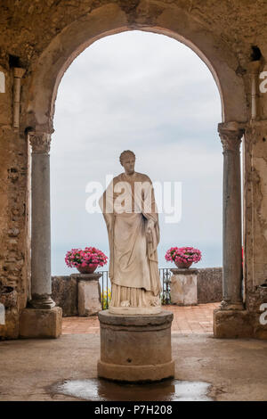 Beautiful statue in the Villa Cimbrone, Ravello, Amalfi Coast, Campania, Italy - Stock Photo