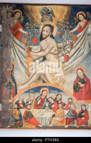 Cristo eucaristico, siglo XVIII, museo de los iconos, castillo Real, Sanok, voivodato de subcarpacia,,Polonia,  eastern europe. - Stock Photo