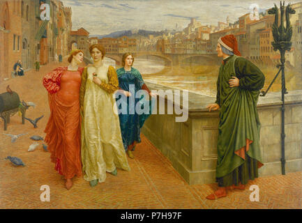 Holiday  Henry - the Meeting of Dante with Beatrice 2 1 - Stock Photo