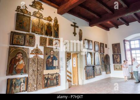 museo de los iconos, castillo Real, Sanok, voivodato de subcarpacia,,Polonia,  eastern europe. - Stock Photo