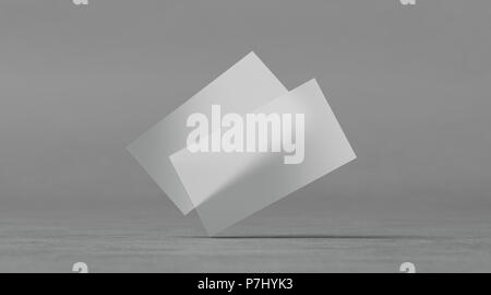 Vector Illustration Isolated On Transparent Blank Plastic Business Cards Mockups 3d Rendering Clear Pvc Namecards Mock Up