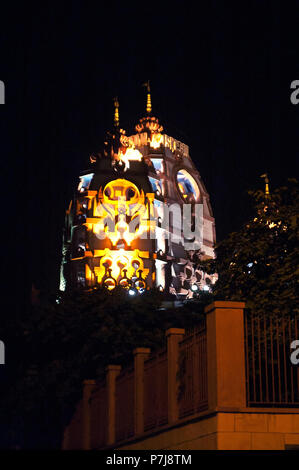 Sri Sri Radha Parthasarathi Mandir, generally known as the ISKCON Delhi temple - Stock Photo