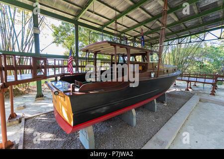Ernest Hemingway's boat named Pilar at Finca Vigía, in San Francisco de Paula Ward in Havana, Cuba - Stock Photo