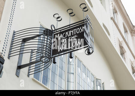 Mackintosh at the Willow, tea rooms 217 Sauchiehall Street, Glasgow, Scotland, UK - Stock Photo