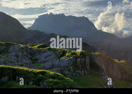 Austria, Vorarlberg, Lech am Arlberg, Steinernes Meer against Rote Wand - Stock Photo