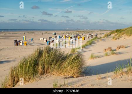 Germany, Lower Saxony, East Frisia, Juist, on the beach. - Stock Photo