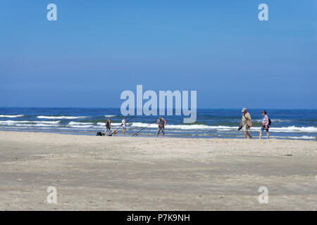 Germany, Lower Saxony, East Frisia, Juist, on the sandy beach of the island. - Stock Photo