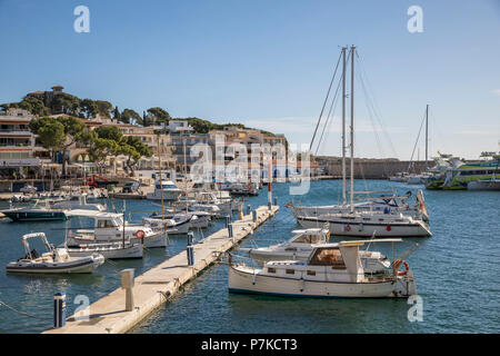 Harbour, Cala Ratjada, Mallorca, Balearic Islands, Spain - Stock Photo