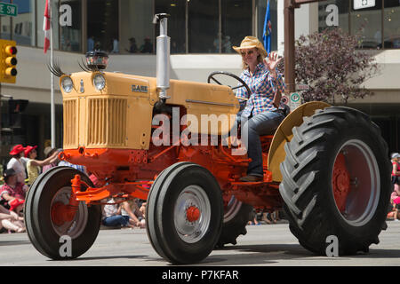A Vintage Tractor Parades Through The Streets Of Driffield