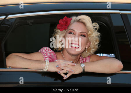 """California, USA. 7th July 2018. Angie Finley  07/06/2018 """"The Swansons 4th of July Celebration Performance"""" held at The Study in Hollywood, CA Photo by Kazuki Hirata / HollywoodNewsWire.co Credit: Hollywood News Wire Inc./Alamy Live News - Stock Photo"""