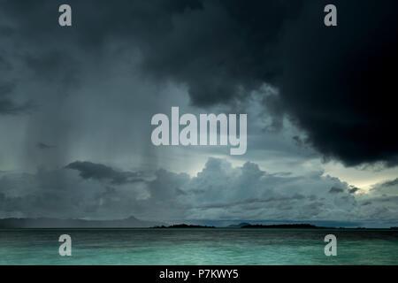 Storm on Banyak Island Haloban - Stock Photo