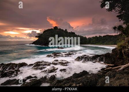 Sunset on Bangkaru, Sumatra - Stock Photo
