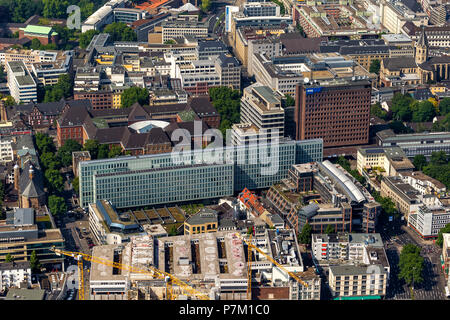 WDR broadcasting corporation, Vierscheibenhaus building in Cologne's city centre, radio station, television broadcaster,  administrative building at Kupfergasse, Cologne, Rhineland, North Rhine-Westphalia, - Stock Photo