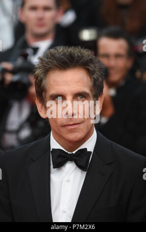 May 21, 2017 - Cannes, France: Ben Stiller attends the 'The Meyerowitz Stories' premiere during the 70th Cannes film festival. Ben Stiller lors du 70eme Festival de Cannes. *** FRANCE OUT / NO SALES TO FRENCH MEDIA *** - Stock Photo