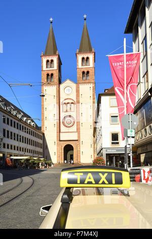 Germany, Bavaria, Upper Franconia Region, Würzburg, Romanesque St. Kilian Cathedral - Stock Photo