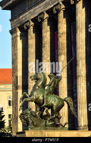 Germany, Berlin, Museum Island, listed as World Heritage by UNESCO, Altes Museum, home to a collection of ancient works, building erected in 1828 by Prussian architect Karl Friedrich Schinkel - Stock Photo