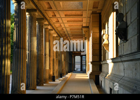 Germany, Berlin, Museum Island, listed as World Heritage by UNESCO, Neues Museum built by Friedrich August Stüler, inaugurated in 1855, reopened in 2009 after a renovation led by British architect David Chipperfield - Stock Photo