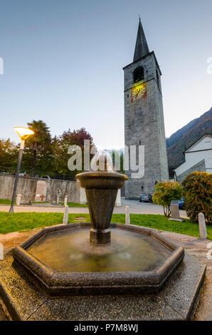 The church of Santo Stefano in Crodo, Ossola, Piedmont, Italian alps, Italy - Stock Photo