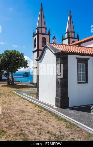 Portugal, Azores, Pico, Madalena, Church of Santa Maria Madalena. - Stock Photo